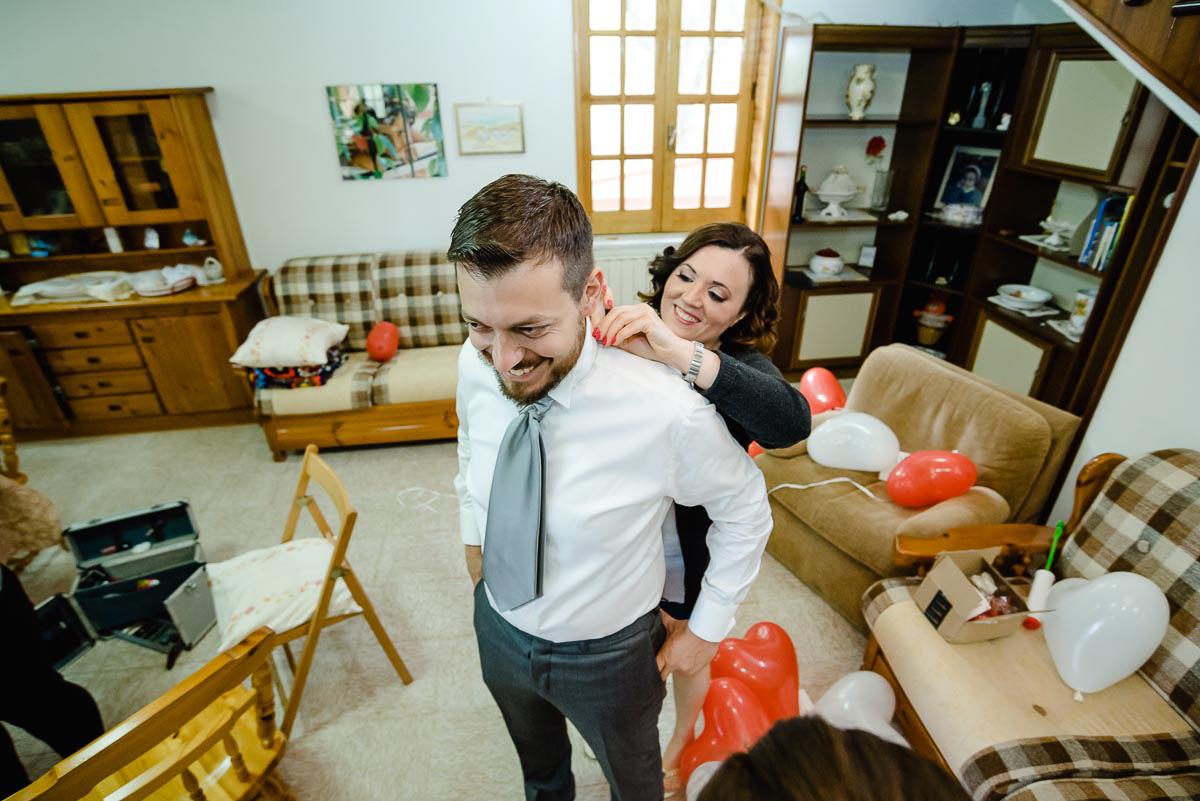 Hochzeitsreportage Bräutigam Vorbereitung