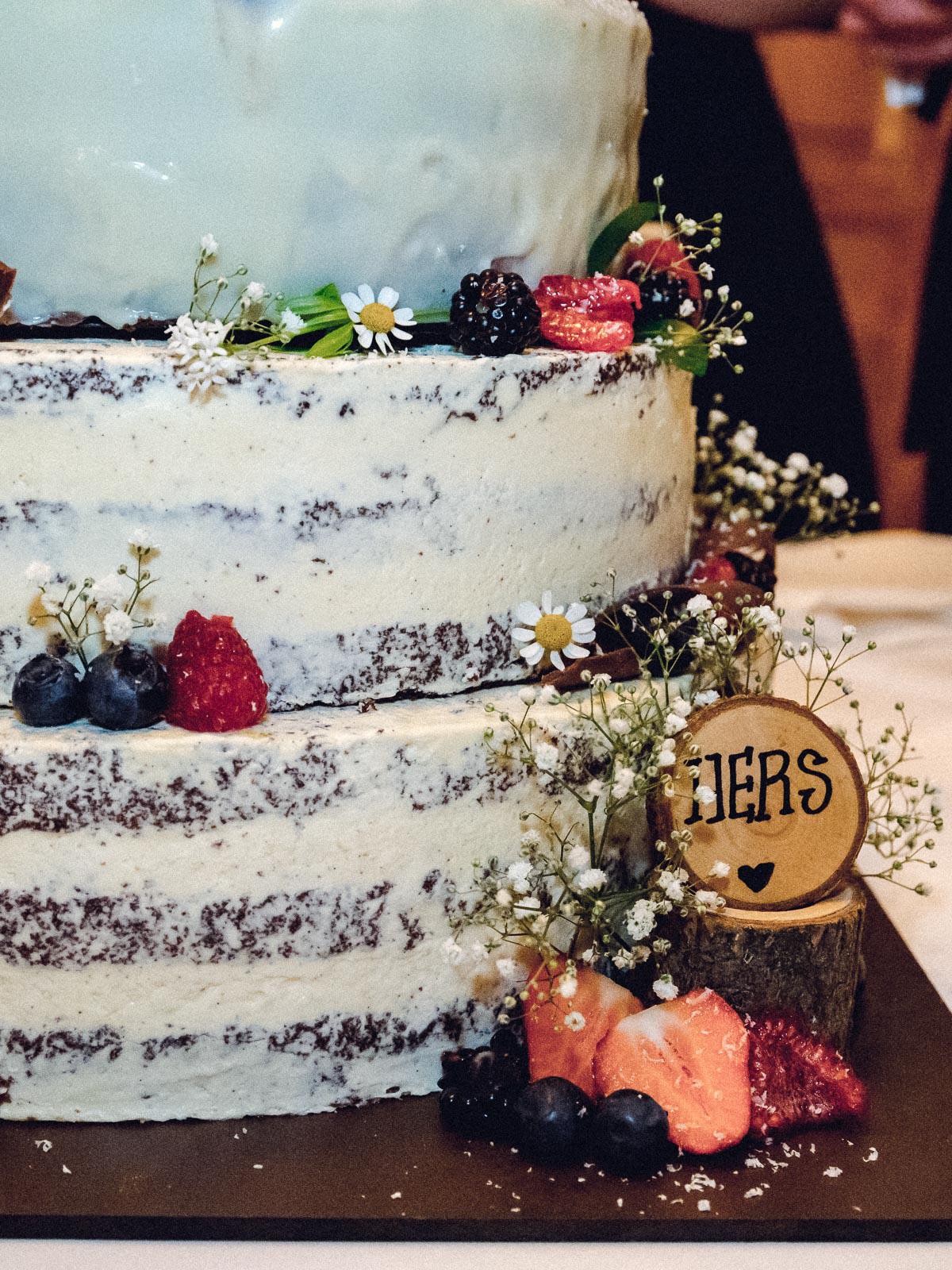 Hochzeitsreportage Spreewald Hochzeitstorte