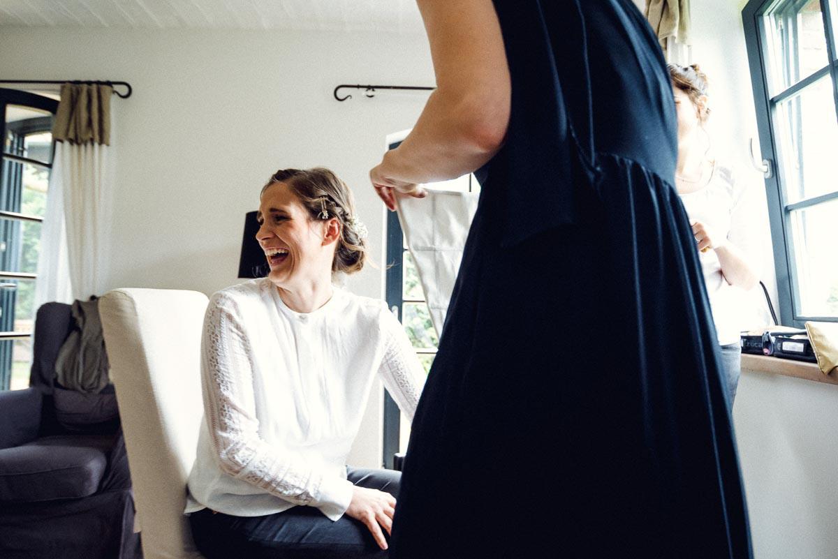 Hochzeitsreportage Spreewald Vorbereitung