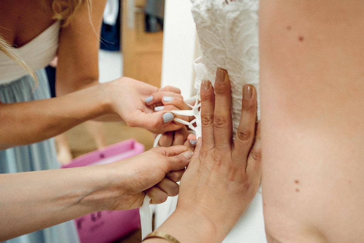 Hochzeitsreportage Spreewald getting ready