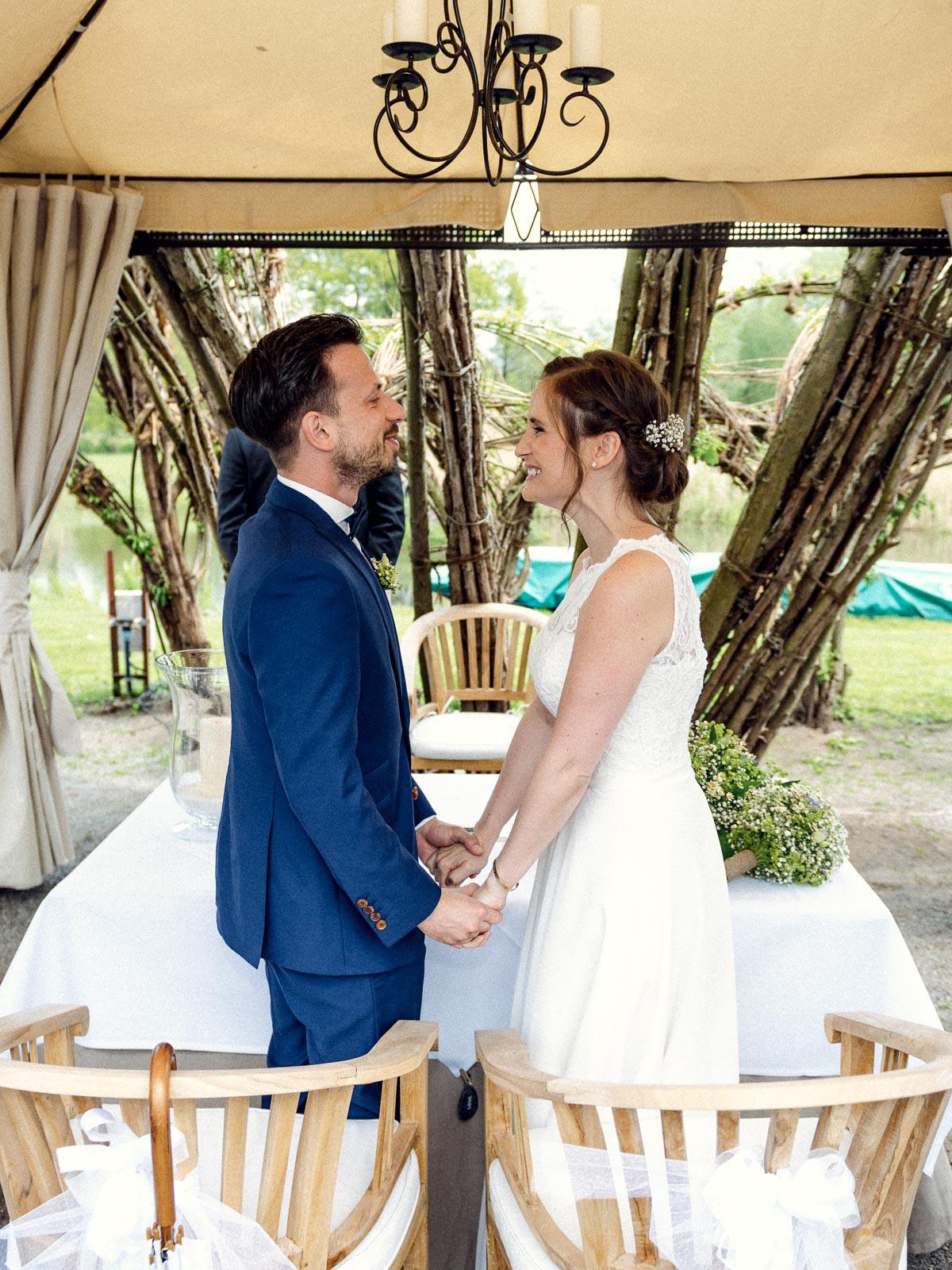Hochzeitsreportage Spreewald Trauung