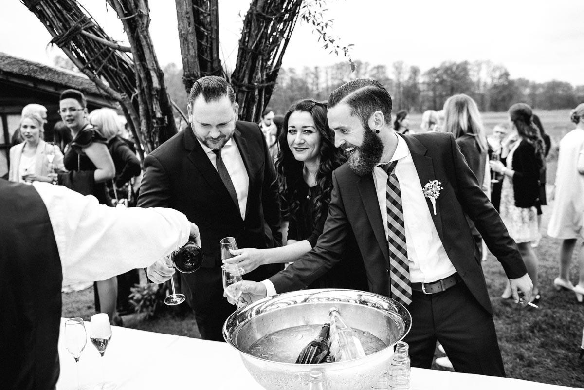 Hochzeitsreportage Sektempfang